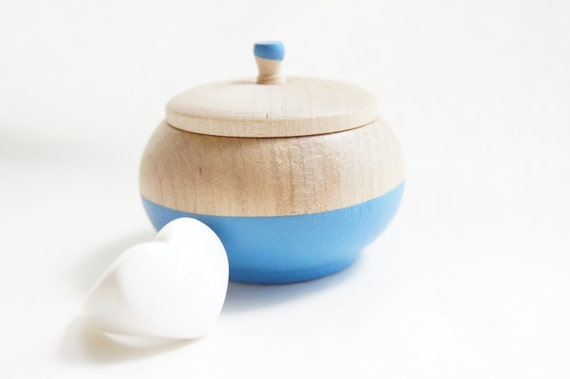 Mini Treasure Pot, Water Blue:  Wedding Decor, Engagement, Special Jewelry Box, Toothfairy