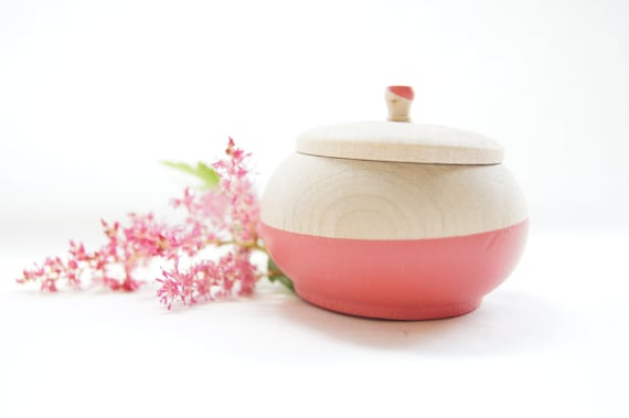 Mini Treasure Pot, Bright Pink: Toothfairy, Wedding Favor, Modern Decor, Engagement