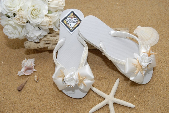 beach weddings ivory flip flops ivory weddings women flip flops