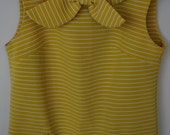 RESERVED LISTING for ANNA - 1950s Yellow Striped Dress