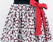 Hello Kitty Skirt with Cute Bow-RESERVED FOR ELIZABETH
