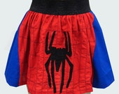 Spiderman Superhero Skirt- RESERVED FOR CUSTOMER