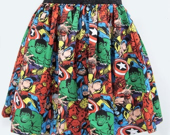 Superhero Comic Book Skirt