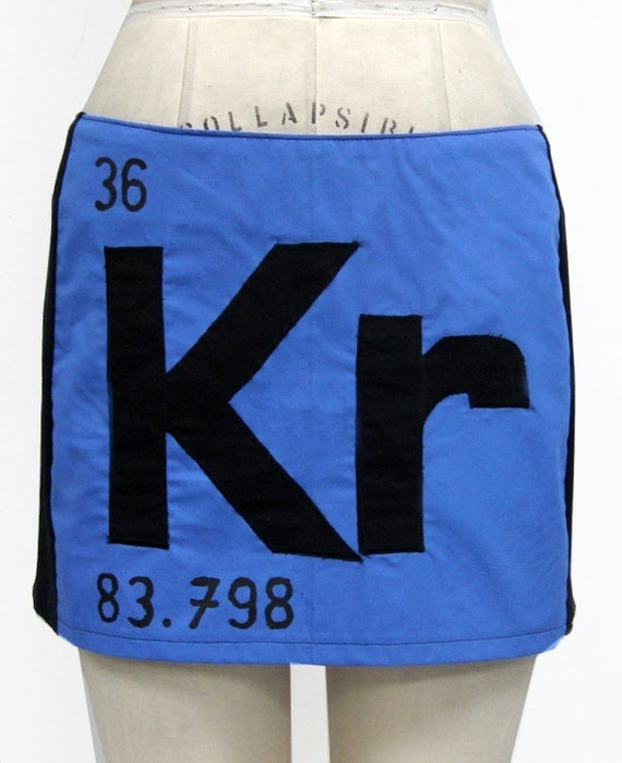 Periodic Table Element Mini Skirt