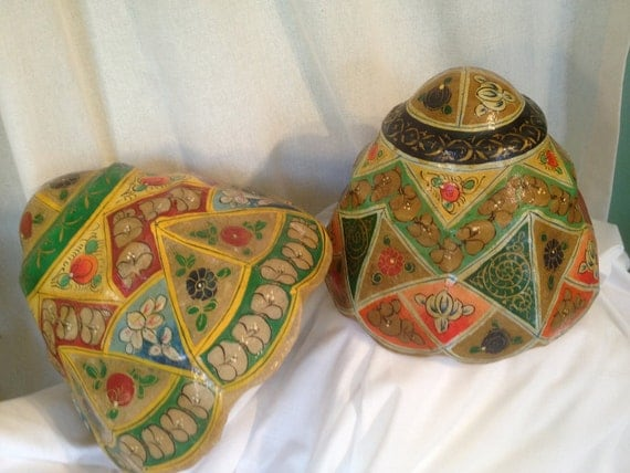 RESERVED FOR SHAN  Vintage Boho Moroccan  Lampshades Colorful