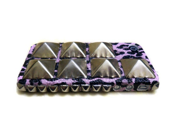 Studded Spiked iPhone case, iPhone 4g, iPhone 4gs case
