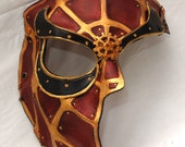 Made to Order -- Reserved for James -- Steampunk Spider Man Leather Half Mask
