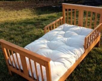 Hand made natural crib futon