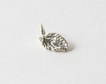 Small Sterling Silver Leaf Charm, Leaf Charm, Tree Charm, Silver Leaf Charm, Leaf Charm