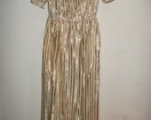 Reserved for Finely - DIAMOND JUBILEE SALE on this Fabulous Vintage Evening Dress in Lurex Stripe