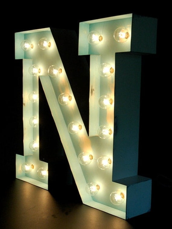 Marquee Bulb Letter - N