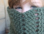 Lacy, Soft Green Cowl Scarf