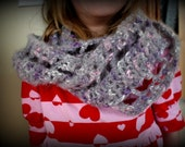 Grey Infinity Scarf or Necklace