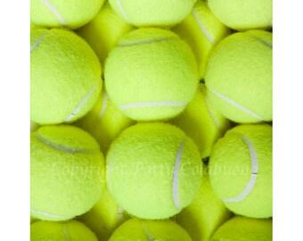 Tennis Ball Photo Note Cards, Set of 4, Fine Art Photography, Sport, Tennis