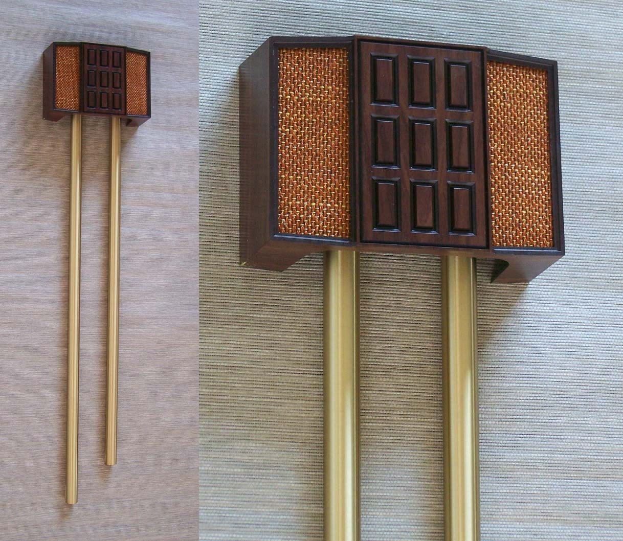 Vintage Rittenhouse Mid Century Long Bell Door Chime Brass