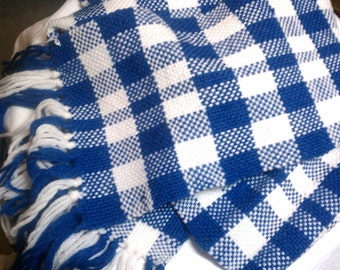 Go Team Go --  Handwoven Plaid Scarf in your team colors - Free Priority Shipping in USA