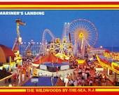 Original Vintage Postcard: Mariner's Landing Amusement Pier, The Wildwoods, NJ