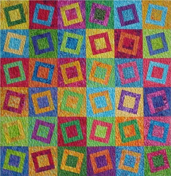 Teeter Totter Batik Quilt Kit Blue Underground By