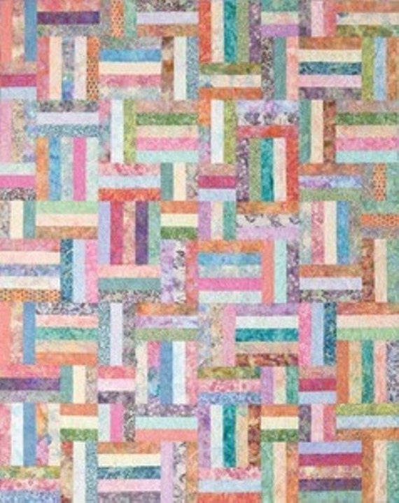 Popsicle Sticks Quilting Kit Diy Pattern Amp Batik Fabric To