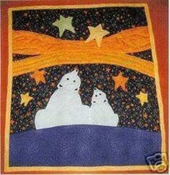 Exclusive Quilt Pattern by Mary Downes Polar Bears Aurora Alaska Stars DIY Quilting