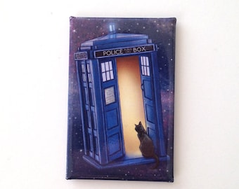 Paws Through Time and Space Fridge Magnet
