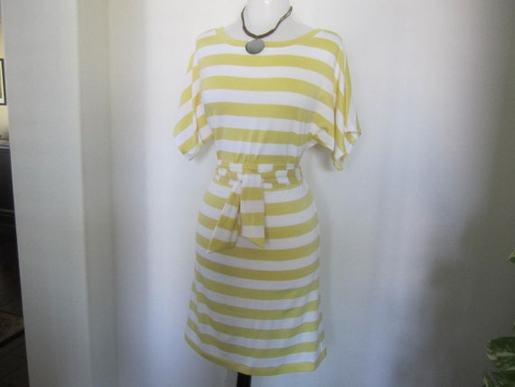 Sun Shine Yellow Striped Dress