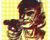 Space Man Ray Gun Screenprint
