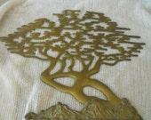 brass wall tree