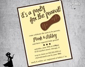 Baby Shower Invitation - PEANUT Printable