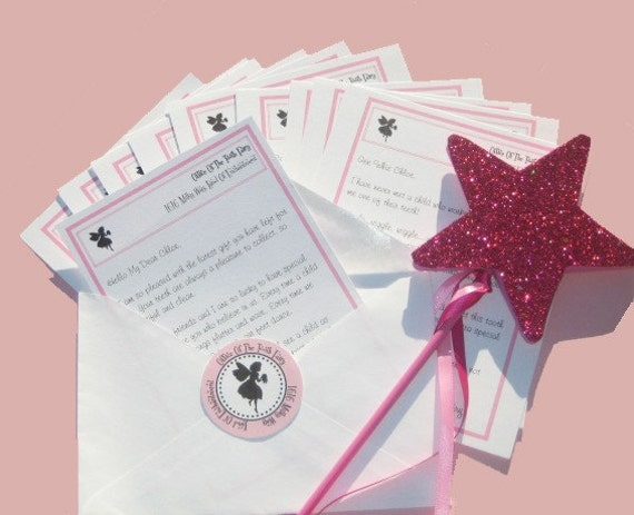 Printable TOOTH FAIRY LETTER Kit Personalized