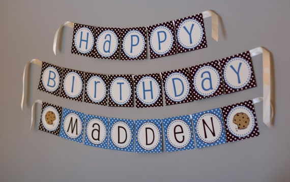 Birthday Banner - COOKIE MONSTER Printable