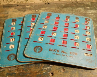Pla-Mor Bingo Cards With Sliding Plastic Covers