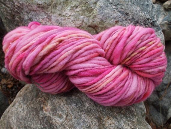 Handspun yarn - green sale - 15% off - handpainted wool - thick and thin - 4.3oz. - 96 yards