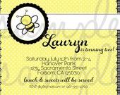 Bee Day Birthday Party, Bee Day Invitation, Bee Day Party, Bee Birthday, Bee Birthday Invitation, Bee Invitation