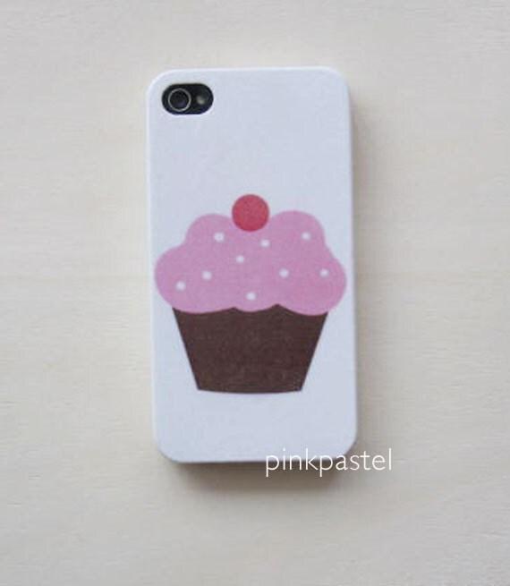 iphone 4/4S case - pink cupcake