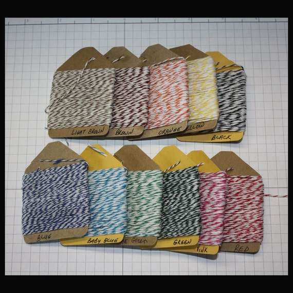 bakers twine 15 yds on a tag 11 colors to chose from mix and match for your favorite craft