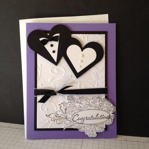 mariage fait main carte de f licitations avec coeur et ruban