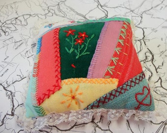 Vintage Handmade Quilted Pillow