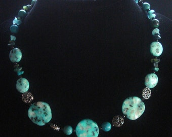 Blue Turquoise Necklace (No.15 )