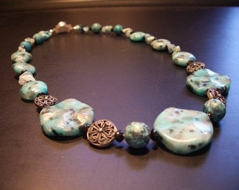 Blue Turquoise Necklace (No.13)