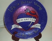 Red Hat Society Ladies Hand Painted Plate