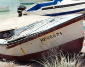 Color Art Photograph of Derelict and Abandoned Boats in the Bahamas - Abandoned Boat
