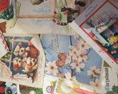 Bulk vintage greeting/christmas cards. 10 pieces. Great for craft, scrapbooking or gifts