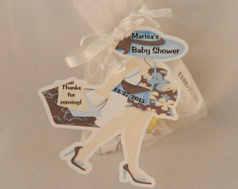 Unique Personalized Chic Mod Mom Baby Shower Party Favor Gift Tags