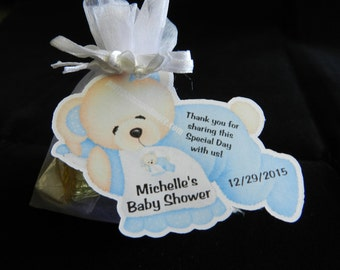 Unique Personalized Bear Baby Shower Party Favor Gift Tags