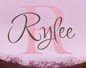 Custom Vinyl Name Decal - Monogram Vinyl Decal - Children and Nursery Wall Art - Vinyl Lettering