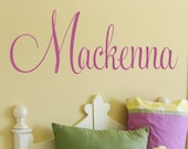 Custom Vinyl Name Decal - Nursery and Bedroom Vinyl Wall Art - Vinyl Lettering