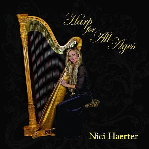 SALE Harp For All Ages, Cd of solo harp