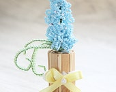 beaded flower bouquet ornament home decor gift