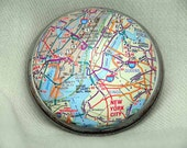 Custom Map Paperweight - customized with your special city or town.
